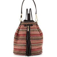 Cynnie Woven Tassel Sling Back, Russet - Elizabeth and James