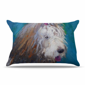 "Carol Schiff ""Shaggy Dog Story"" Blue Animals Pillow Sham"