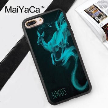 Always  Harry Potter Deer Printed Soft Rubber Phone Case For Apple iphone 6 Case For iphone 6S 6Plus 7 7Plus 5 5S 5C SE 4S Cover