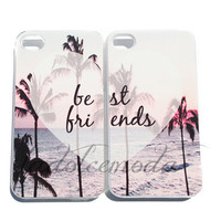 BEST FRIENDS iPhone case paradise summer 2013 seniors hard plastic case iPhone 4 iPhone 5 pink hot trendy