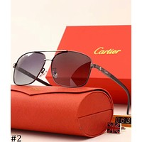 Cartier 2018 new men and women models polarized color film sunglasses F-XBC #2