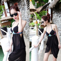 Tuxedo swimsuit Korean ladies bikini