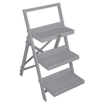 """36"""" Three-Step Plant Stand, Gray, Outdoor Urns, Planters & Jardinieres"""