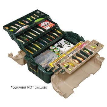Plano Hip Roof Tackle Box w-6-Trays - Green-Sandstone [861600]