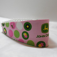 Pretty Pink Headband Made With John Deere Inspired Fabric