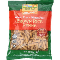 Field Day Pasta - Organic - Brown Rice - Penne - 12 Oz - Case Of 12