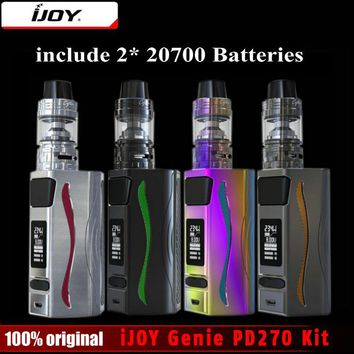 In Stock! iJOY Genie PD270 TC Box Mod With Captain S Subohm Tank 4ml 234W Dual 20700/18650 Batteries Vaporizer E-Cigarette Kit
