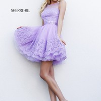 Sherri Hill 11091 Short Lace Prom Dress