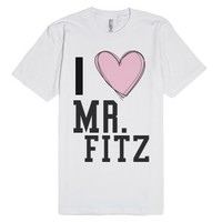 Mr. Fitz-Unisex White T-Shirt