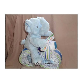 Elephant Motorcycle Diaper Cake