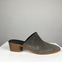 CHARCOAL SUEDE MULE