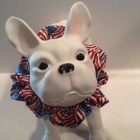 Memorial and July 4th - 100% Cotton - Hand made - Neck Scrunchie
