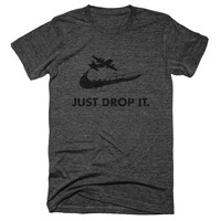 Just Drop It. MOAB Nike Parody Unisex Tee - BYFB Clothing