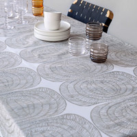 Home Decor: Mehiläispesä tablecloth in white, silver | Marimekko Store