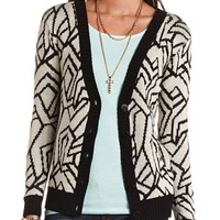 Geometric Grandfather Cardigan: Charlotte Russe