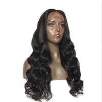 Pre-Plucked Brazilian Lace Front  Body Wave Middle Part Wig