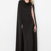 Invite Only Caped Maxi Dress