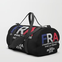 FRANCE | CHAMPIONS DU MONDE | VIVE LA FRANCE | Russia 2018 Duffle Bag by paulosilveira