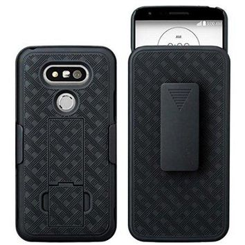 SHELL/HOLSTER COMBO WITH KICKSTAND - LG G5