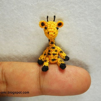 Tiny Walking Giraffe  Micro Dollhouse Miniature Animals  by SuAmi