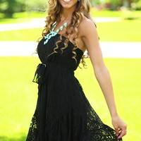 Row Row Romance Dress in Black