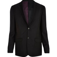 River Island MensBlack Life of Tailor panelled suit jacket
