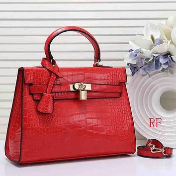 Hermes Women Fashion Leather Handbag Crossbody Shoulder Bag Satchel
