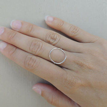 Geometric Circle Ring / Open Circle / Karma Ring / Halo ring