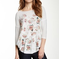 H.I.P. | Printed Baseball Body Sweatshirt (Juniors) | Nordstrom Rack