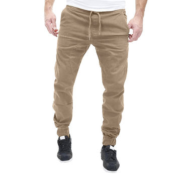 2017 Men Leisure Causal Trousers Slim Fit Hip Hop Harem Pants For Men Joggers Cotton Sweatpants Elastic Cuff Male Slacks