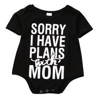 Infant Babies Boy Girl Cute Cotton Bodysuit one-pieces Outfits,Newborn Baby Boys Girls Letter Bodysuits Onesuit Kids Clothing