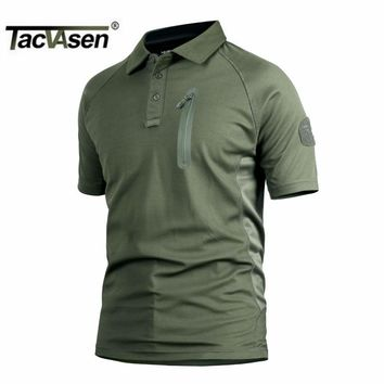 TACVASEN Hot Tactical Men T Shirt Breathable Perspiration Combat Army Men Top Military Turn-Down Collar T-Shirts TD-YCXL-017