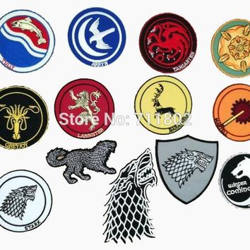 Game of Thrones Movie TV iron on patches  embroidery appliques Clothing accessories coat badge jersey patch