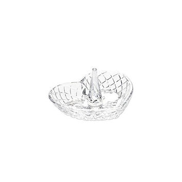 Heart Shape Glass Ring Holder, Best Quality Free Gift Box Satisfaction Guaranteed