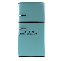 Just Chilllin' Vinyl decal for Refrigerator, Removable Fridge Decal, Funny Kitchen Decal