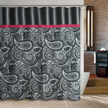 "71"" x 71"" Paisley Shower Curtain"