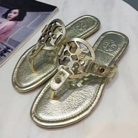 Tory Burch 2018 trendy women comfortable fashion sandals slippers F gold