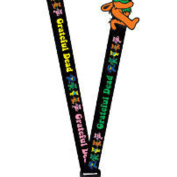 Grateful Dead Dancing Bears Lanyard Keychain