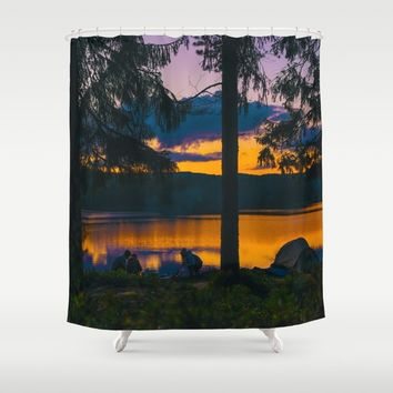 Down By The River Shower Curtain by Gallery One