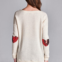 Under My Thumb Sequin Heart Sweater