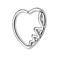 BodyJ4You 16G (1.2mm) Daith Earring Heart Silver Helix Earring Cartilage Hoop Body Piercing Jewelry