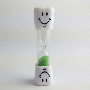 ONETOW Multicolor 2 Minute Hourglass Kids Toothbrush Timer Smiley Sand Egg Timer ##