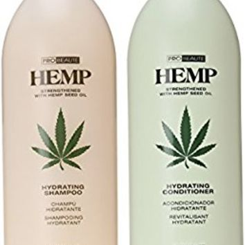 Hemp Hydrating Shampoo and Hydrating Conditioner 33.8oz Two Pack
