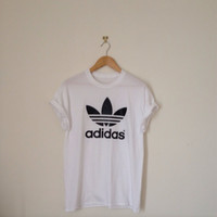 classic white adidas swag sexy style top tshirt fresh boss dope celebrity festival clothing fashion urban unqiue
