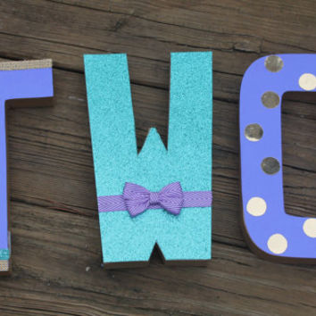 mermaid birthday numbers, 1st birthday, 2nd birthday, birthday numbers, birthday photo prop, purple and aqua,mermaid party decor,table decor