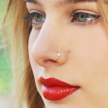 Fake septum Piercing nose ring Hoop nose For Women faux clip Rings clicker non Body Jewelry for Women Mother's Day gift