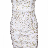 White Jerica Sleeveless Party Dress