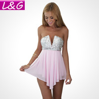 Strapless Sequin Romper