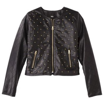 Mossimo® Women's Studded Faux Leather Jacket -Black