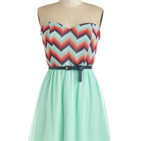 ModCloth Strapless A-line Limelight as a Feather Dress